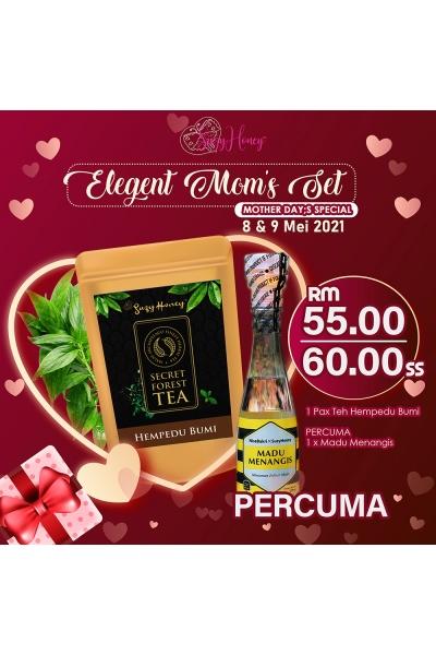 Elegant Mom's Set - Hempedu Bumi Mix Tea & Madu Menangis